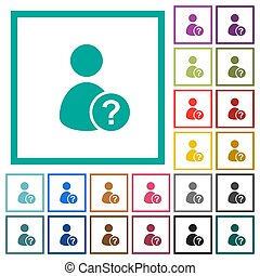 lejlighed, iconerne, farve, uvidst, kvadrant, bruger, rammer