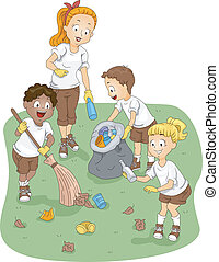 lejr, rensning