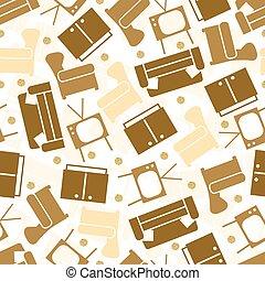 leve rum, guld, mønster, seamless, baggrund, glitre, prik, furniture