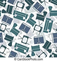 leve rum, mønster, seamless, baggrund, monochrome, glitre, sølv, prik, furniture