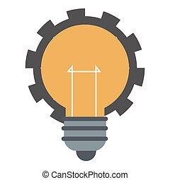 lightbulb, indgreb, ikon