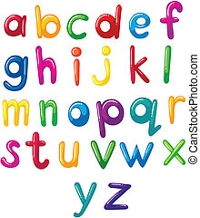 lille, alfabet, breve