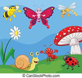 lille, cartoon, dyr