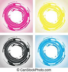 linser, abstrakt, kamera