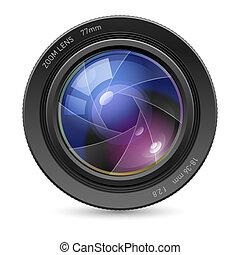linser, kamera, ikon