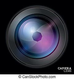 linser, kamera, vector.