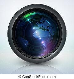 linser, klode, kamera