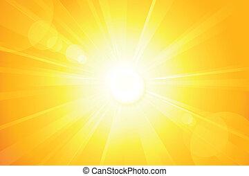 linser, sol, klar, vektor, signallys