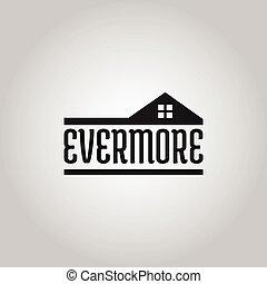 logo, ægte, konstruktion, selskab, estate
