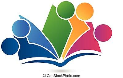 logo, bog, teamwork