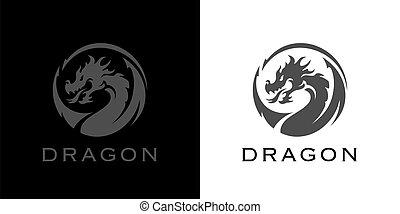 logo, drage, tatovering