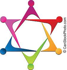 logo, enhed, vektor, hold