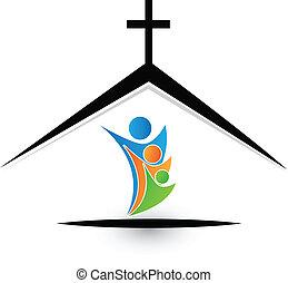 logo, familie, kirke