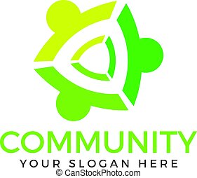 logo, folk, samfund, design.
