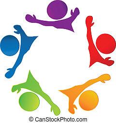logo, glade, teamwork, folk branche