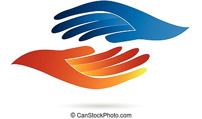 logo, håndslag, firma
