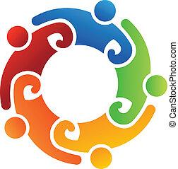 logo, hold, 5, frivillig