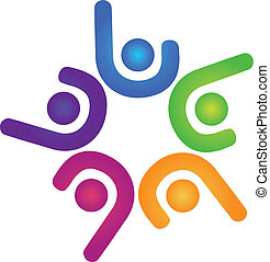 logo, hold, firma, held, folk