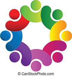 logo, hold, forbundet, folk