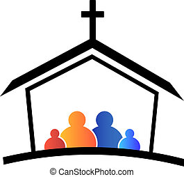 logo, kirke, familie, tro
