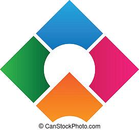 logo, konstruktion, korporativ, skabelon