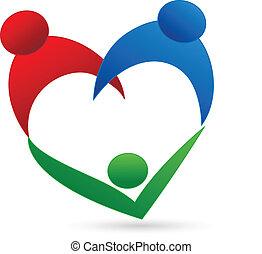 logo, sammenhænge, familie