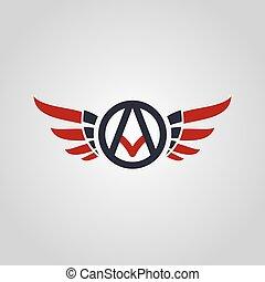 logo, symbol, logotype, tema, flyver