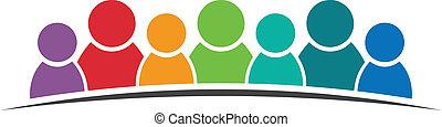 logo, teamwork, 7 folk