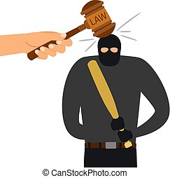 lov, character., lovlig, forbryder, hammer, afstraffelserne