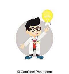 lys, doktor, ide, pære