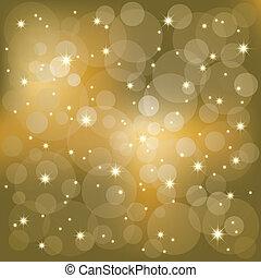 lys, gnistr, stjerner, baggrund