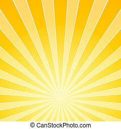 lys, klar, gul, bjælker