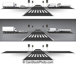 lys, trafik, grønne