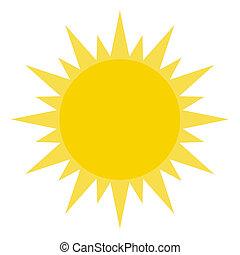 lysende, sol, gul