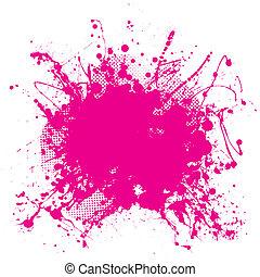 lyserød, grunge, splat