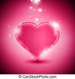lyserød, hjerte