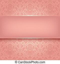 lyserød, ornamental, fabric, 10, eps, vektor, baggrund, texture.