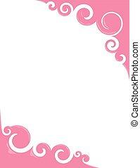 lyserød, swirls, bubblegum