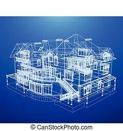 lystryk, hus, arkitektur