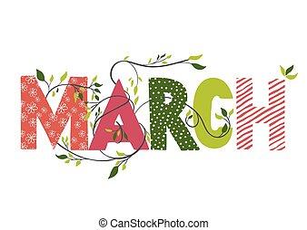 måned, name., marts