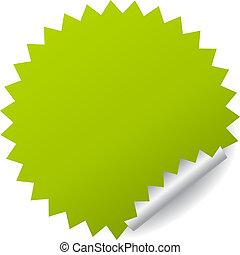 mærkaten, vektor, grønne