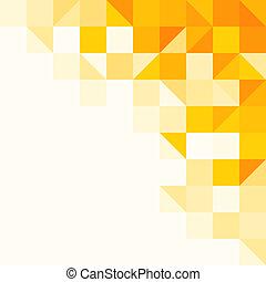 mønster, abstrakt, gul