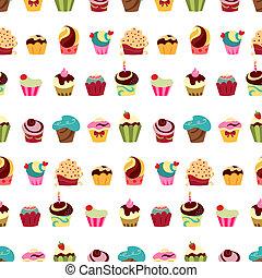 mønster, cupcakes