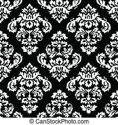 mønster, damask