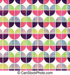 mønster, geometriske, seamless, cirkelrund