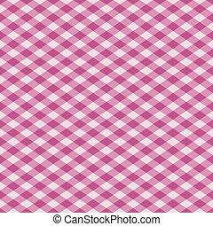 mønster, gingham, lyserød