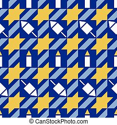 mønster, hanukkah