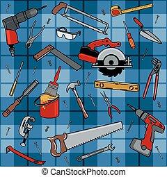 mønster, konstruktion, redskaberne