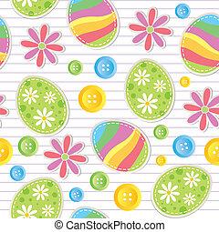 mønster, påske, seamless