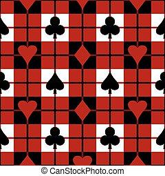 mønster, plaid, card, passer